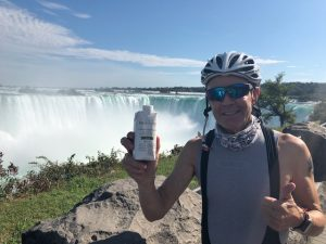 Jerry Cahill, a 61-year-old CF patient and cyclist