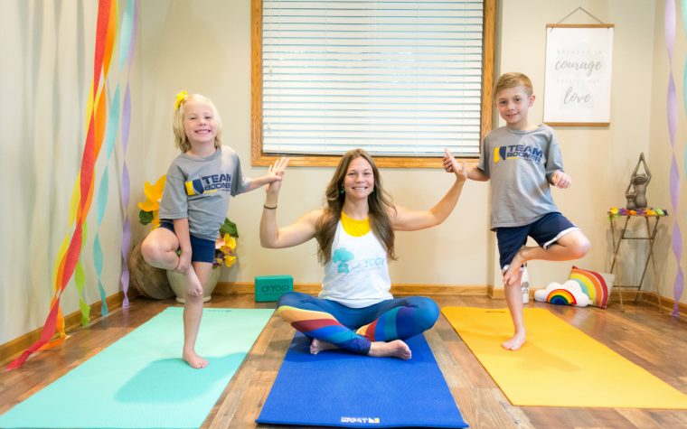 CF Yogi instructor and kids