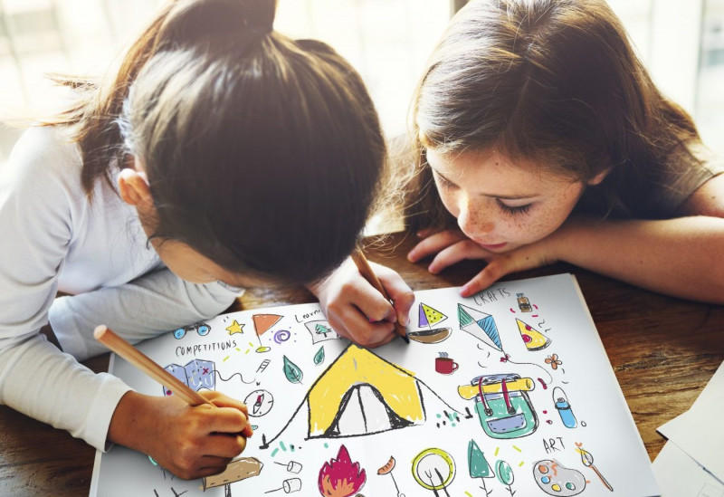 diabetes | Cystic Fibrosis News Today | Research | Two girls draw and color together
