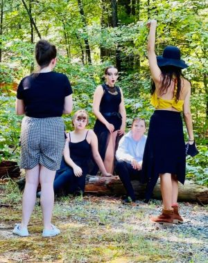 perspective / Cystic Fibrosis News Today / Photo of dance teachers directing students in the woods.