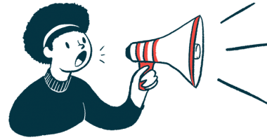 menstrual cycle effects on CF symptoms/Cystic Fibrosis News Today/patient enrollment/woman with megaphone illustration