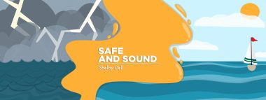 """Main graphic for """"Safe and Sound,"""" Cystic Fibrosis News Today, by columnist Shelby Dell"""