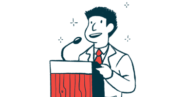 Trikafta | Cystic Fibrosis News Today | Illustration of man making an announcement